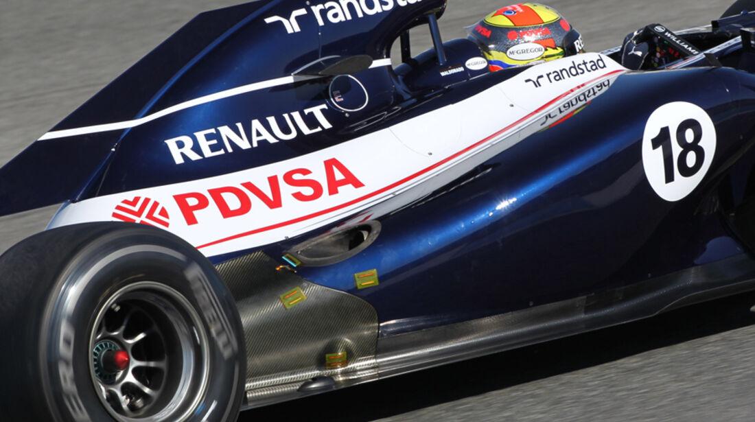 Williams Auspuff Jerez Test 2012