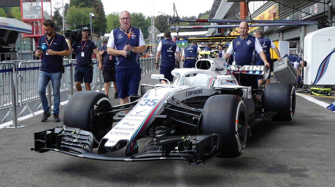 Williams - Formel 1 - GP Belgien - Spa-Francorchamps - 23. August 2018