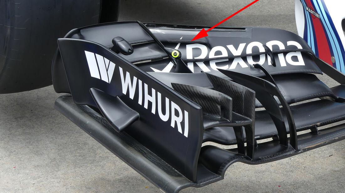 Williams - Formel 1 - Technik - GP Malaysia / GP Japan - 2016