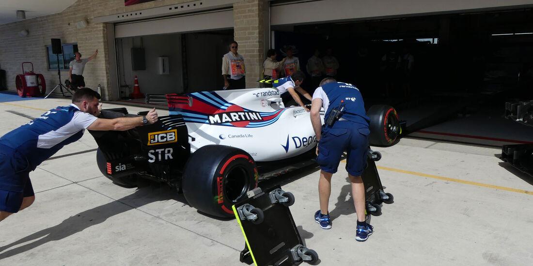 Williams - GP USA - Austin - Formel 1 - Donnerstag - 19.10.2017
