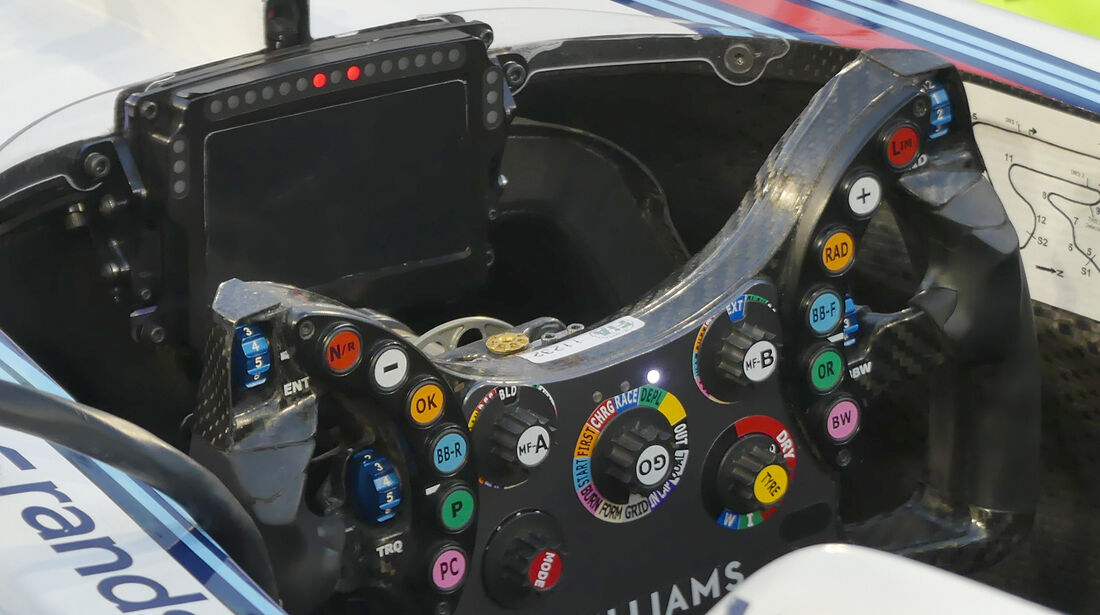 Williams - Lenkrad - Formel 1 - Technik - GP Bahrain 2016