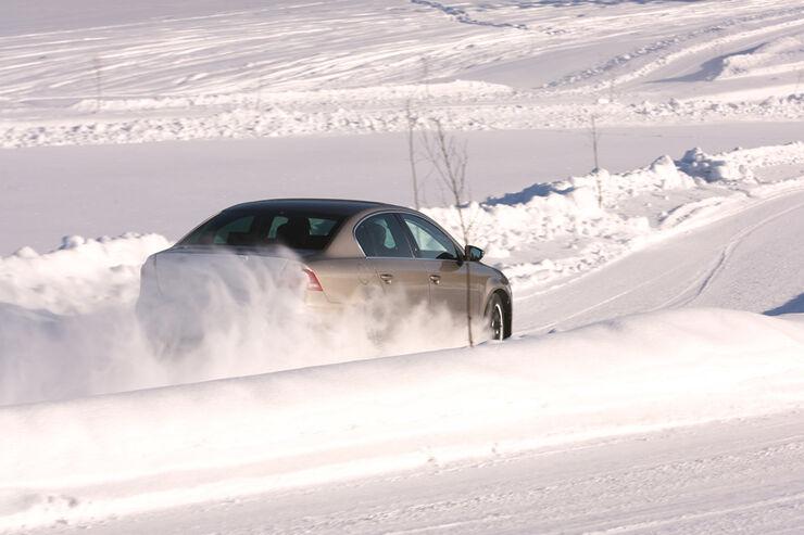 Winterreifentest, Schneelandschaft