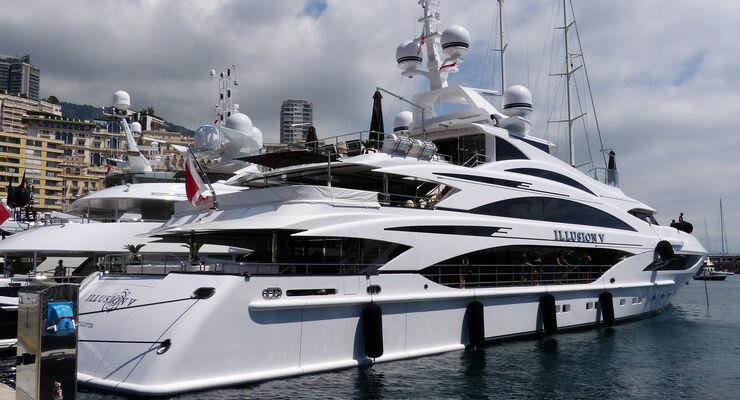 Superyachten  Super-Yachten beim GP Monaco: Wer hat die längste Yacht? - auto ...