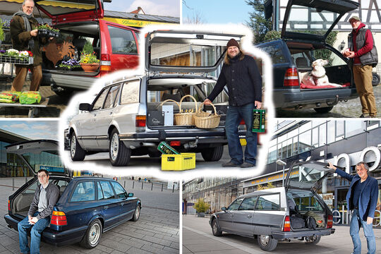 Youngtimer-Kombis: Citroen CX Break, BMW E34, Ford Granada, Mercedes S124 und Volvo 740