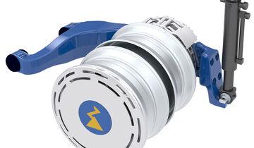 Zawheel getriebelose, elektrisch angetriebene Niederflurachse