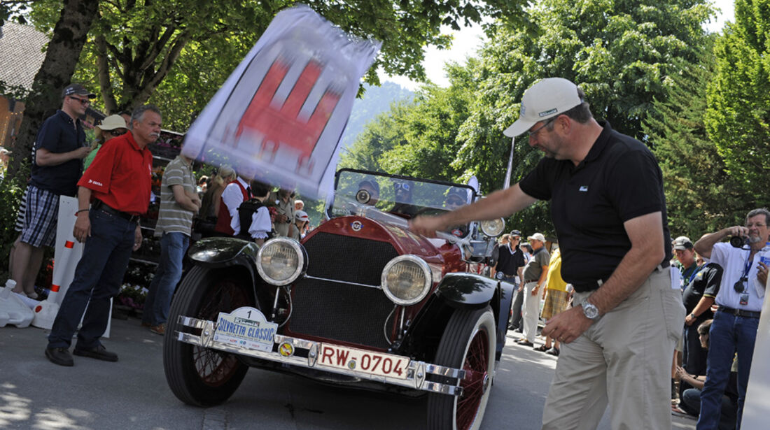 Zieleinlauf bei der Silvretta Classic 2010