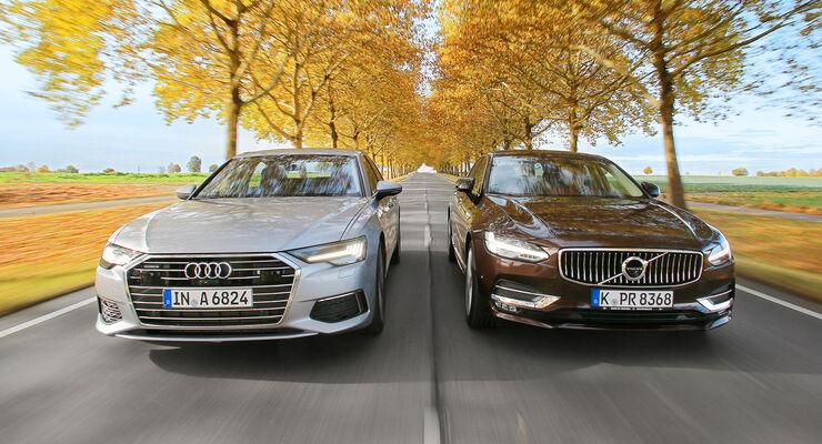 ams0219, Vergleichstest, Audi A6 45 TDI Quattro, Volvo S90 D5 AWD, Exterieur