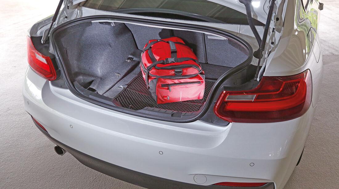 asv 1814, BMW 220i, Kofferraum