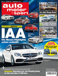 auto motor und sport 10 / 2015 Titel