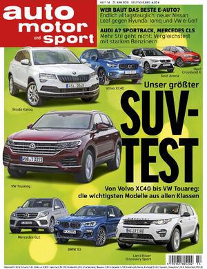 auto motor und sport Heft Titel 14/2018