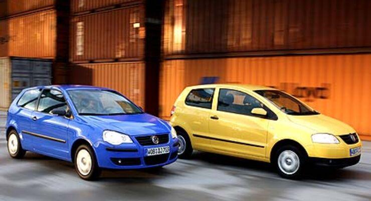 Paarlaufen Vw Fox 1 2 Gegen Vw Polo 1 2 Auto Motor Und Sport