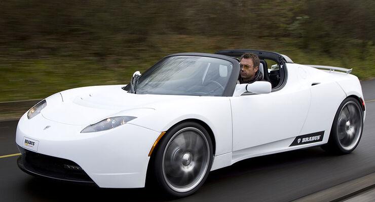 Brabus Tesla Roadster Erste Fahrt Mit Dem Elektro Schocker Auto
