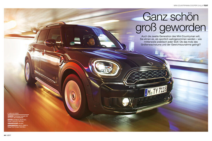 einzeltest mini countryman cooper s all4 auto motor und sport. Black Bedroom Furniture Sets. Home Design Ideas