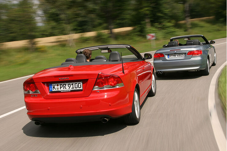 bmw 325 ci cabrio gegen volvo c70 t5 blech lawine auto. Black Bedroom Furniture Sets. Home Design Ideas