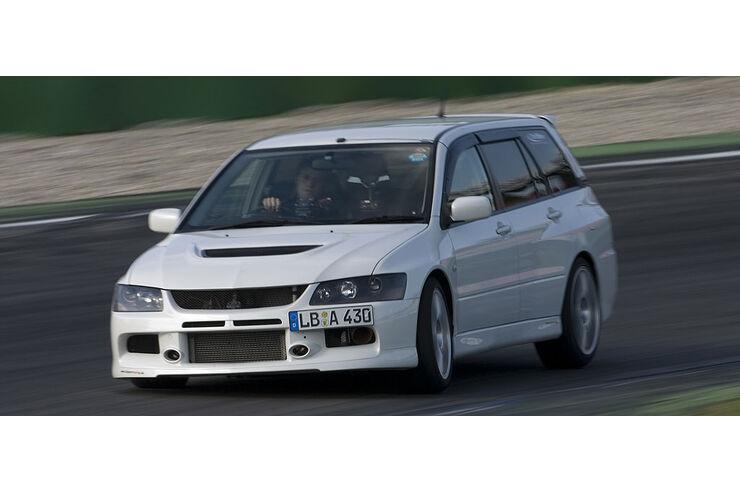 importracing lancer evo ix wagon im test - auto motor und sport