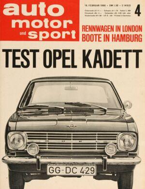 auto motor und sport auto motor und sport heft 04 1966. Black Bedroom Furniture Sets. Home Design Ideas
