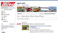sport auto Facebook-Fan-Seite 2011